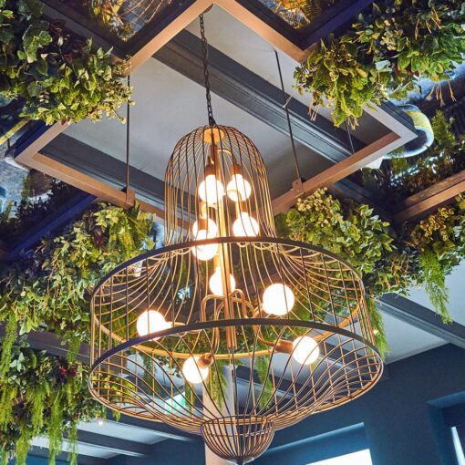 10 Light Birdcage Chandelier Feature Light