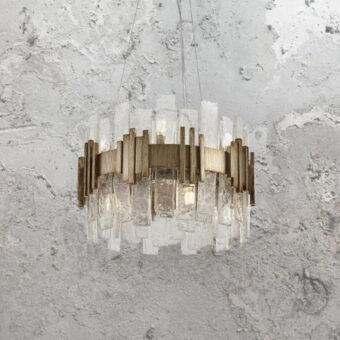 10 Light Gold Ice Chandelier