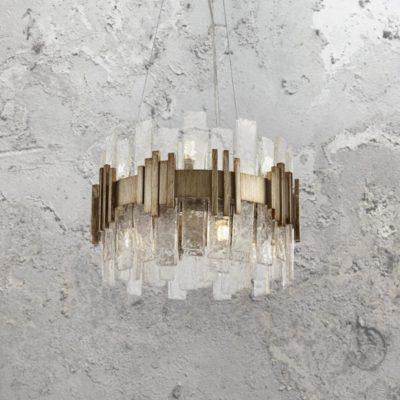 10 Light Gold Ice Chandelier