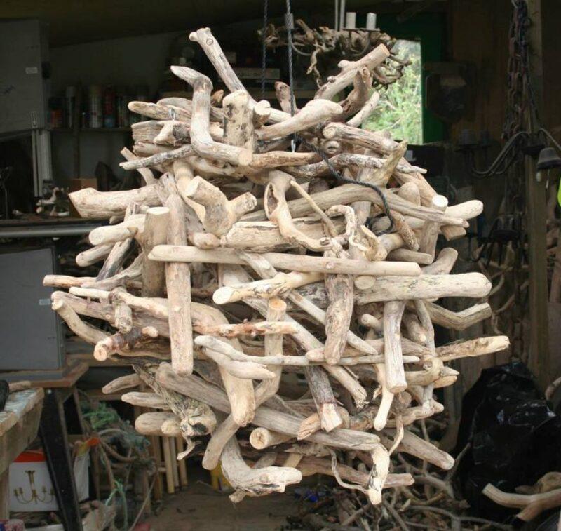 Driftwood nest pendant