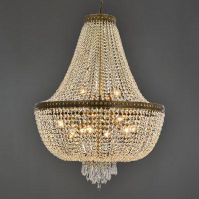 11 Light Bronze Empire Crystal Chandelier