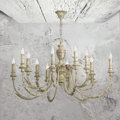 12 Light Rustic French Chandelier