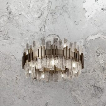 14 Light Gold Ice Chandelier