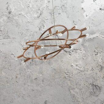 15 Light Copper Chandelier
