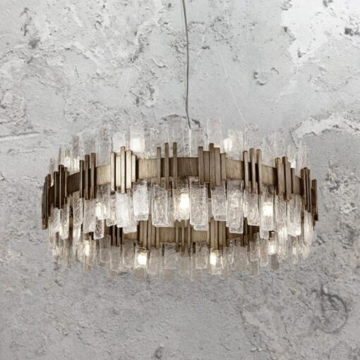 18 Light Gold Ice Chandelier