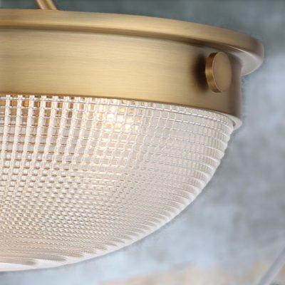 2 Light Antique Brass Semi Flush Up-Lighter