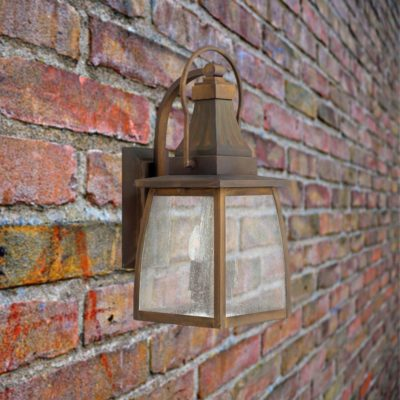 2 Light Brass Exterior Wall Light,victorian outside lights,victorian outdoor lighting