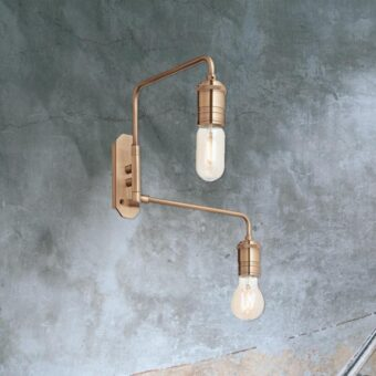 2 Light Brass Wall Light