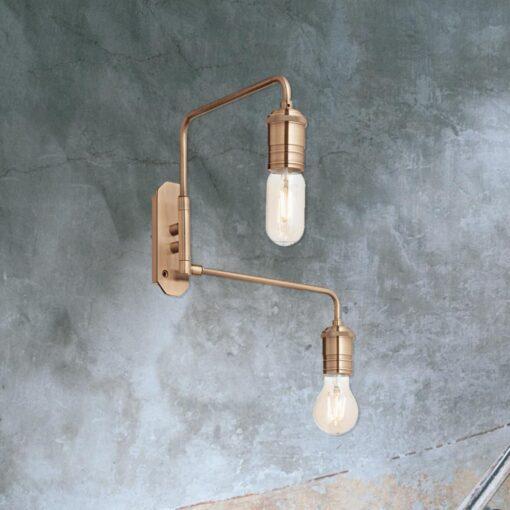 2 Light Brass Wall Light