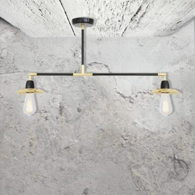 2 Light Modern Semi Flush