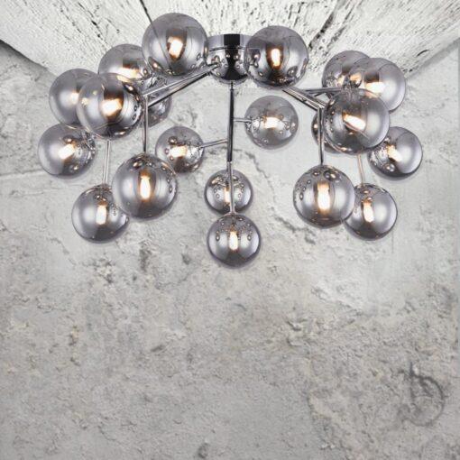20 Light Modern Flush Chandelier