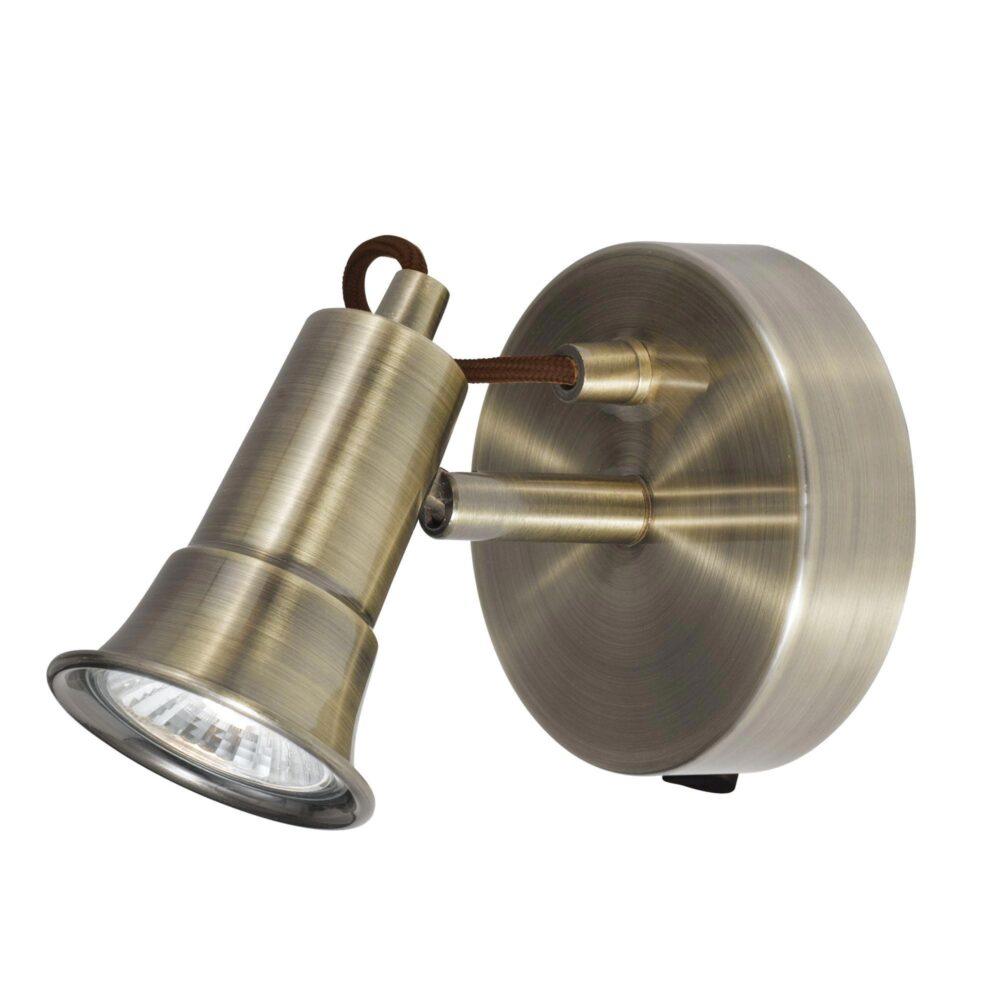 Antique Brass GU10 Spotlight Spotlights