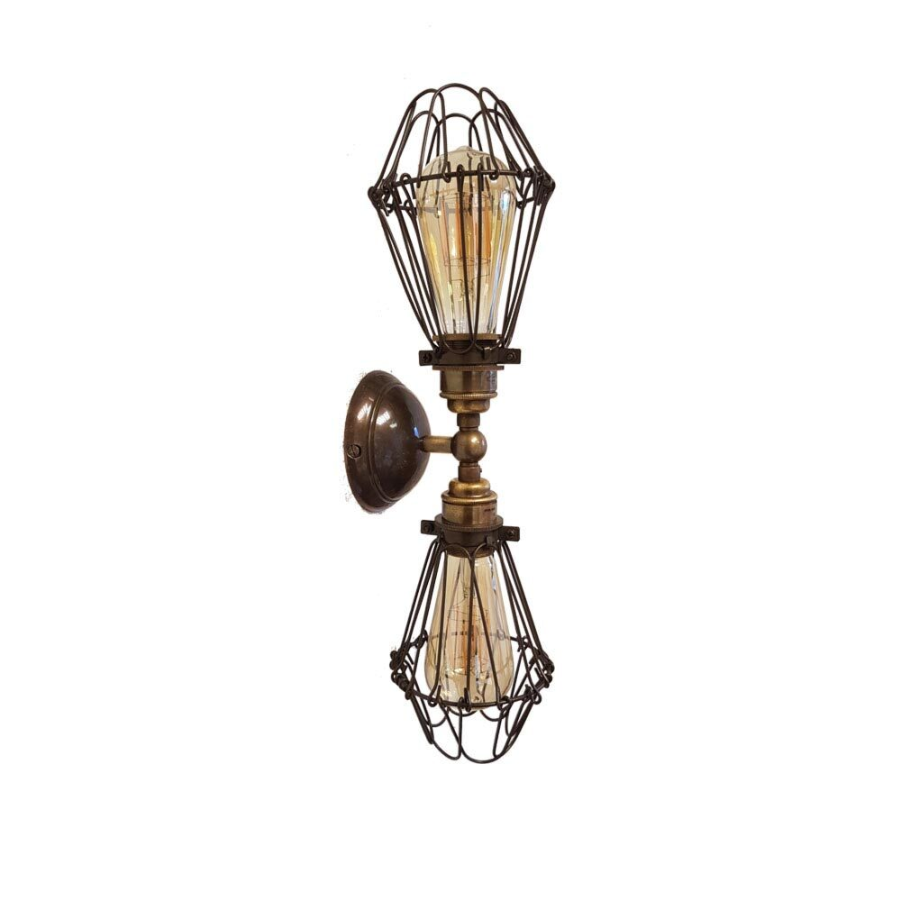 Vintage Double Cage Wall Light Wall Lights