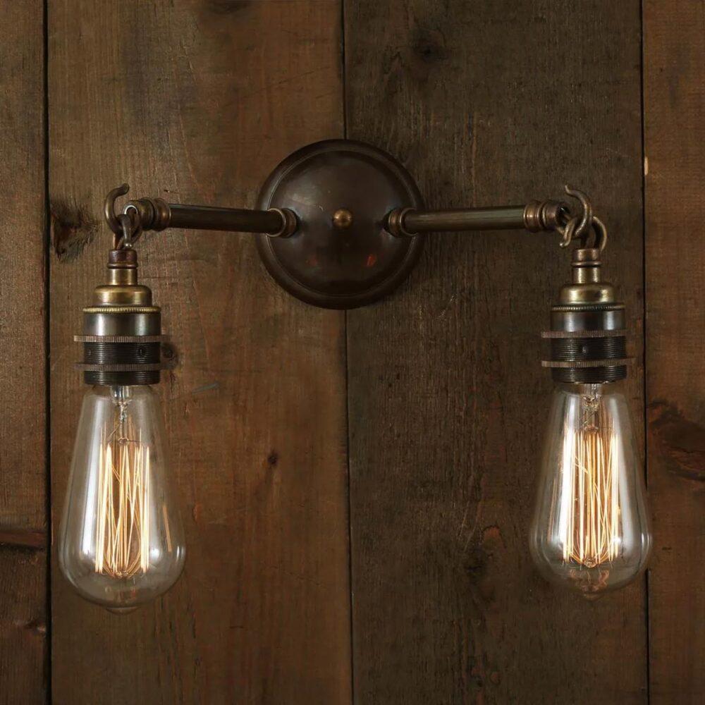 Industrial Brass Dish Wall Light 250mm Wall Lights