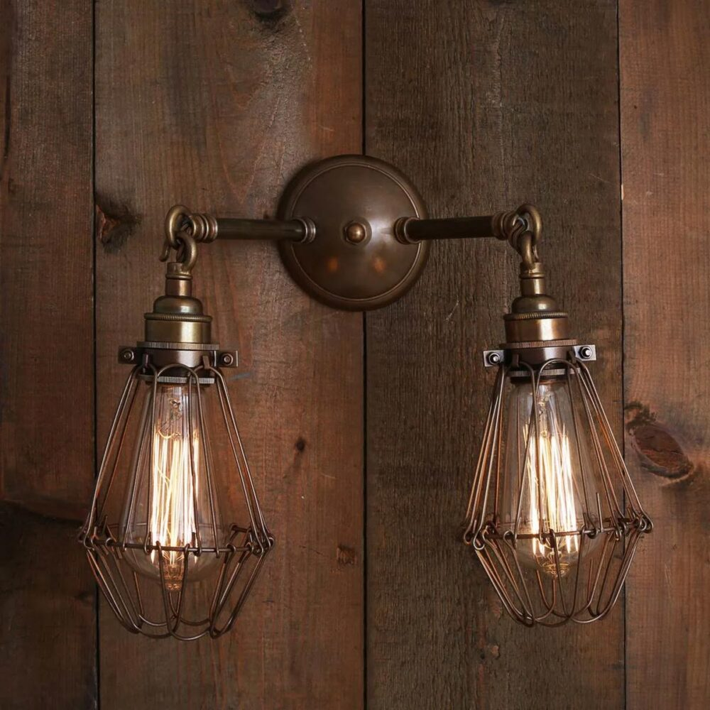 Vintage Prismatic Glass Wall Light Wall Lights