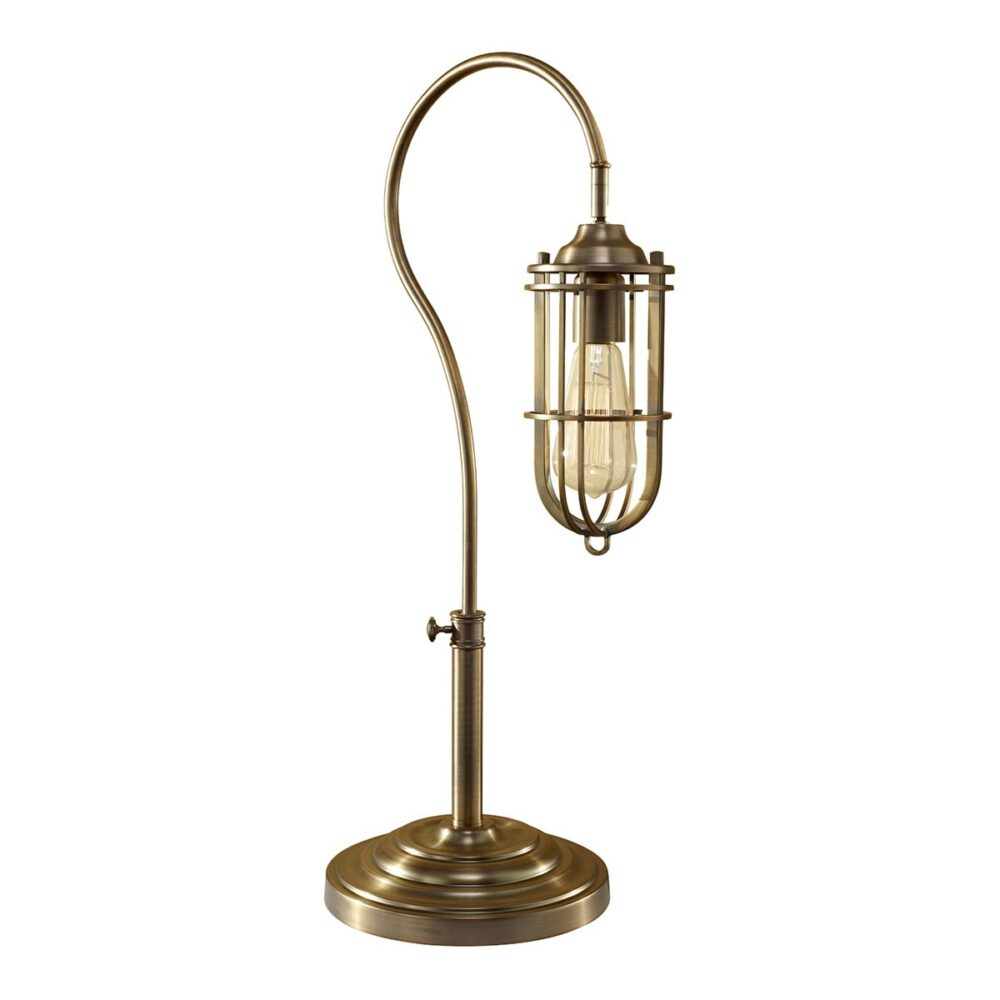 Antique Brass Cage Table Lamp Table Lamps