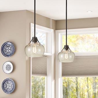 Iron and Glass Pendant Lighting Pendants