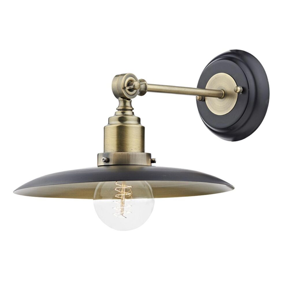Industrial Antique Brass Flush Light Flush