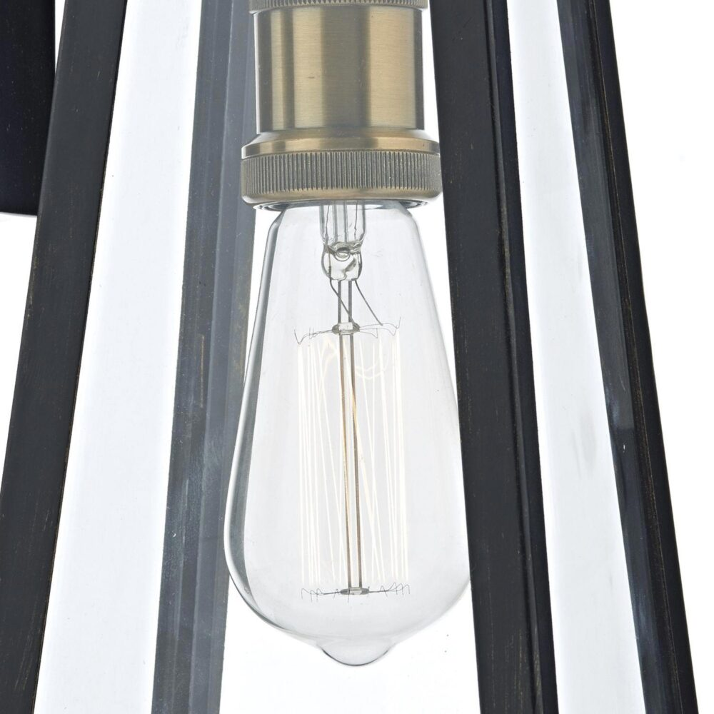 Vintage Outdoor Clear Glass Wall Light Outdoor