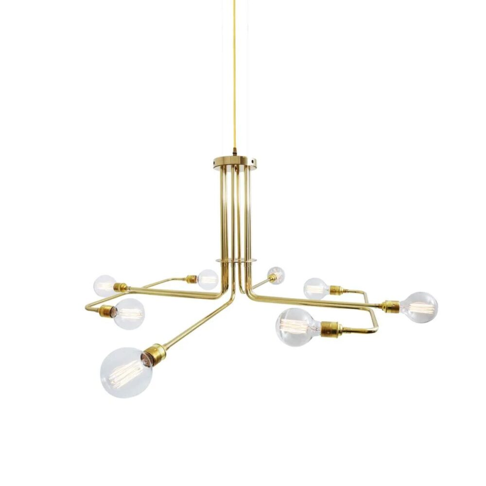 Extendable Double Jointed Antique Brass Enamel Shade Wall Light Wall Lights