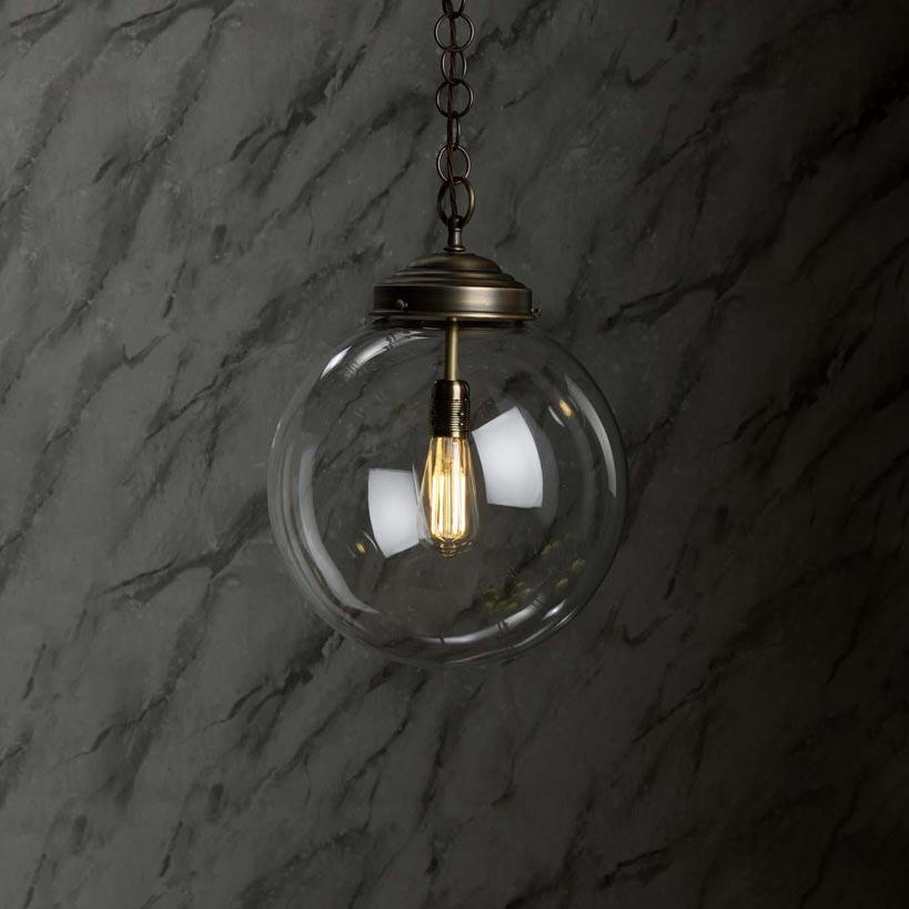 Flat Ribbed Glass Wall Light Wall Lights