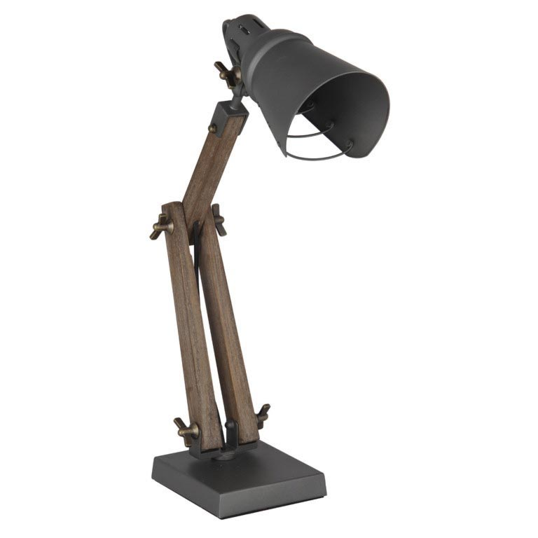 Wood and Metal Desk Lamp Table Lamps