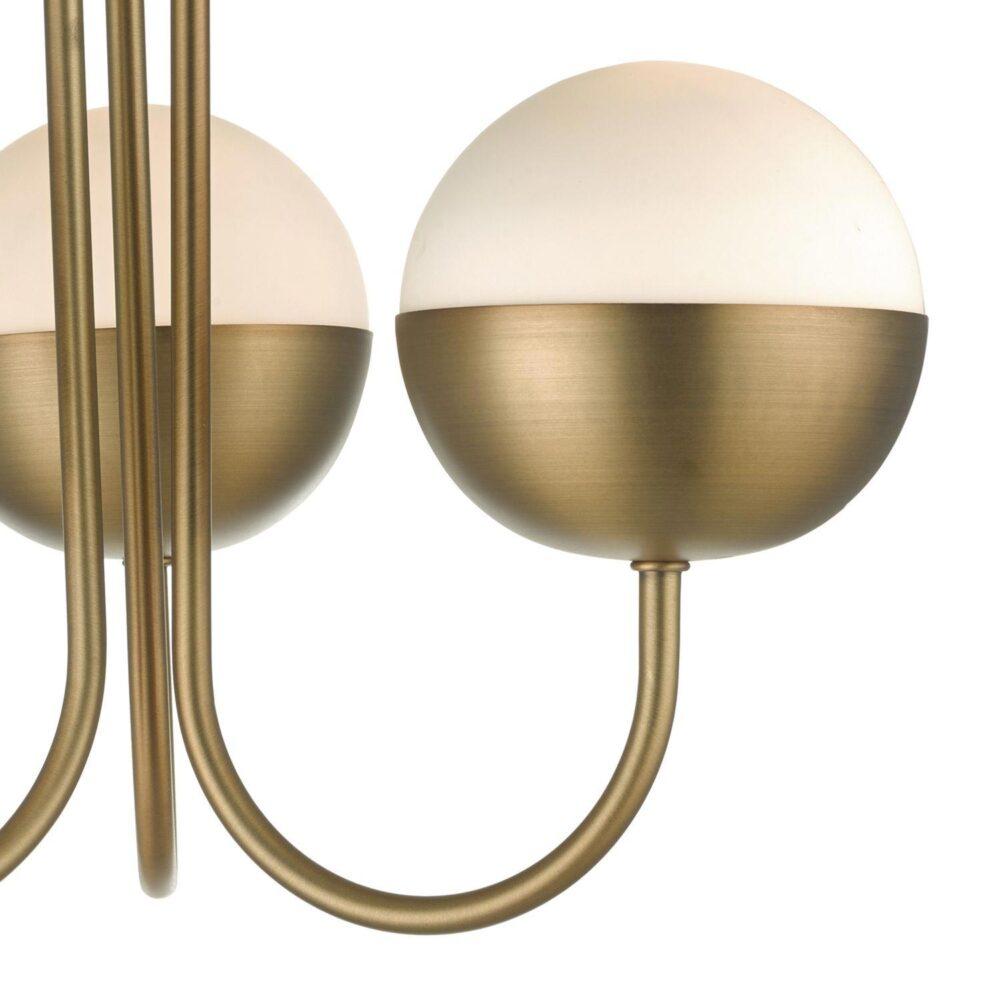 Aged Brass 3 Light Semi Flush Flush & Semi