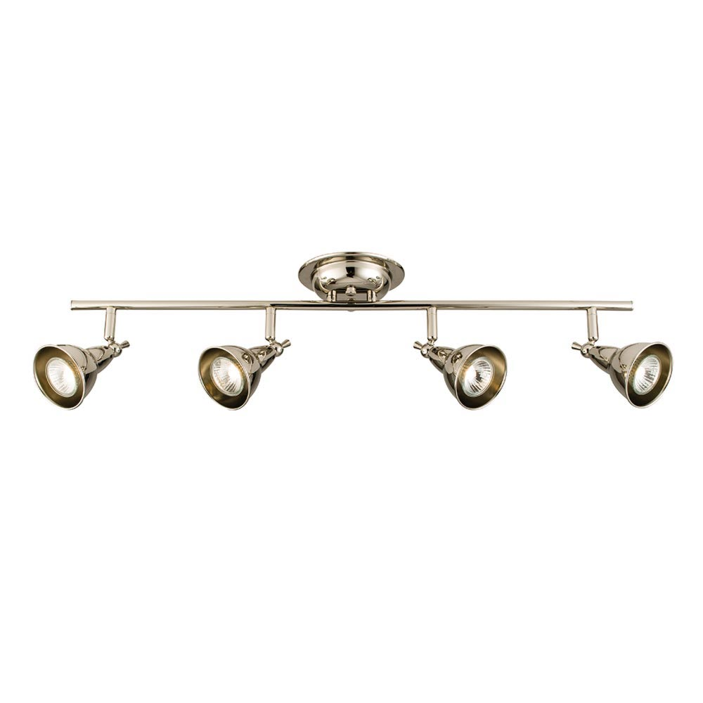 4 Light Polished Nickel Spotlight Bar Spotlights