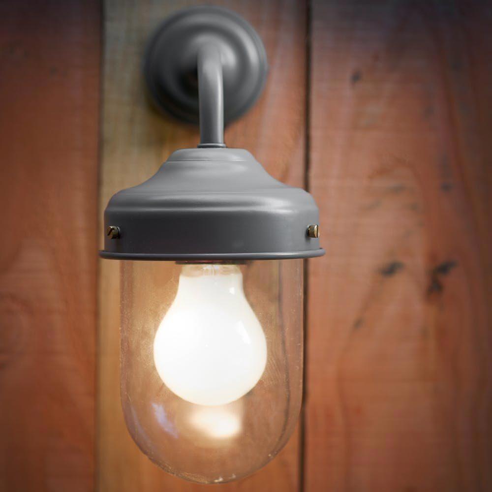 Rectangular Rust Outdoor Wall Light Outdoor