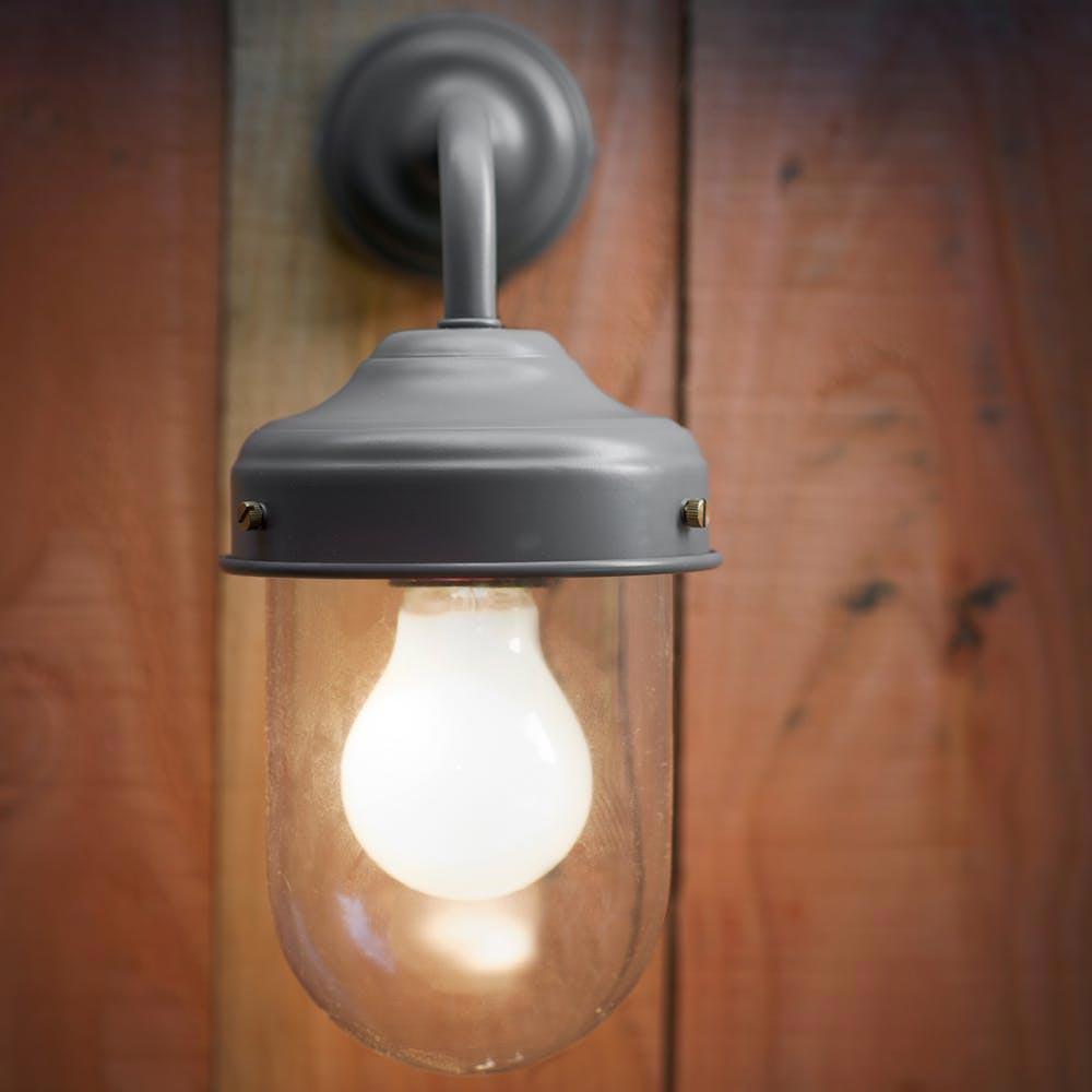 Grey Outdoor Barn Wall Light Outdoor