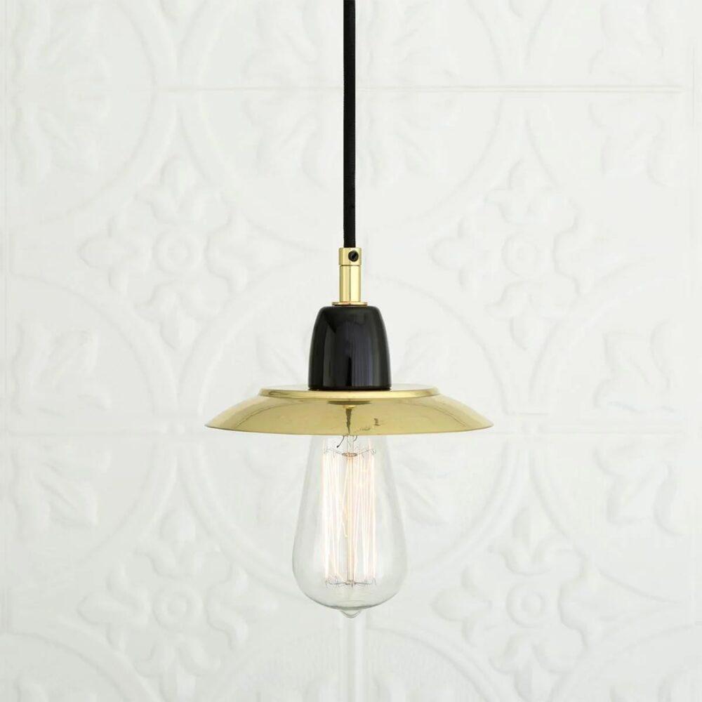 3 Light Polished Brass Semi-Flush Flush & Semi