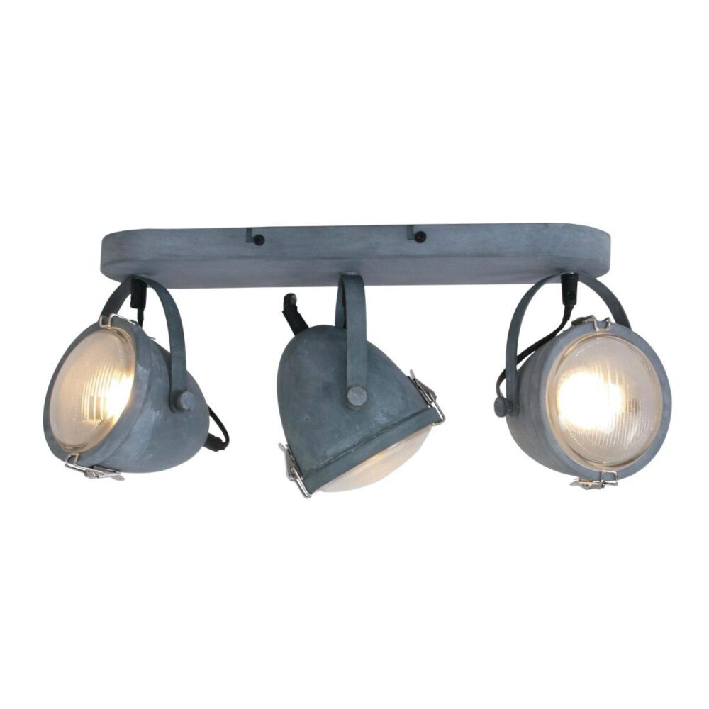 Triple Industrial Grey Spotlight Spotlights