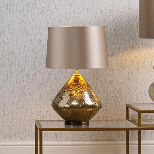 Textured Gold Table Lamp Base Table Lamps