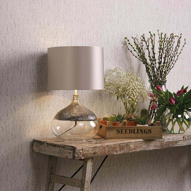 Bronze Clear Glass Table Lamp Base Table Lamps
