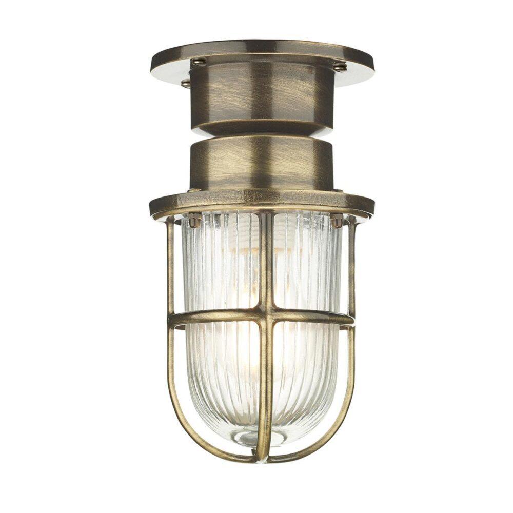 Antique Brass Bulkhead Ceiling Light Bulkheads