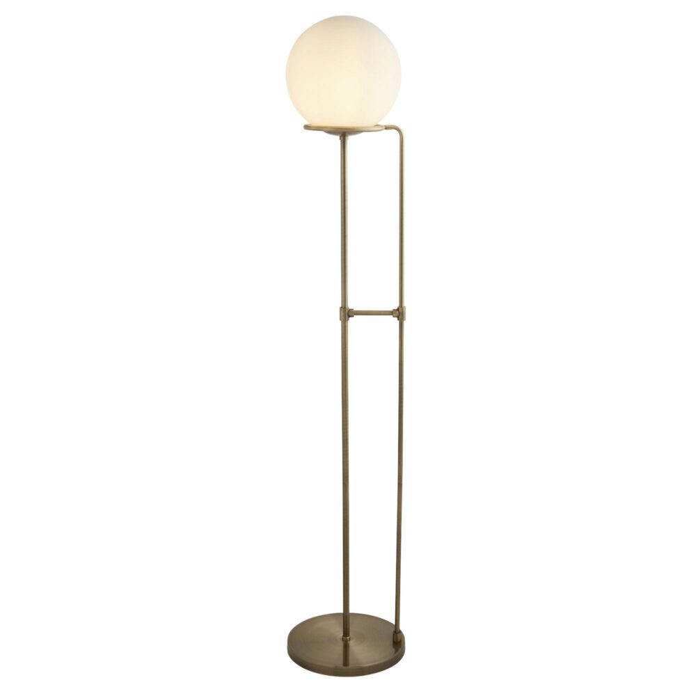 Opal Glass Globe Floor Lamp Floor Lamps