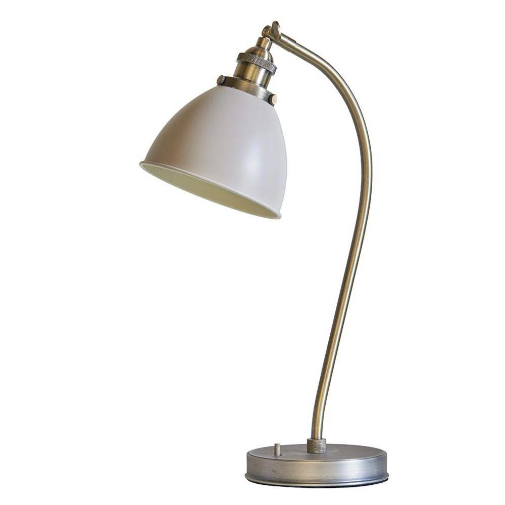Industrial Taupe Table Lamp Table Lamps