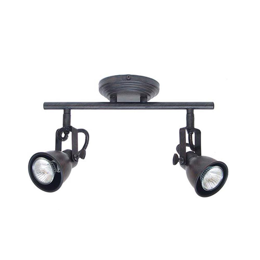 Rusted Steel Double Spotlight Spotlights