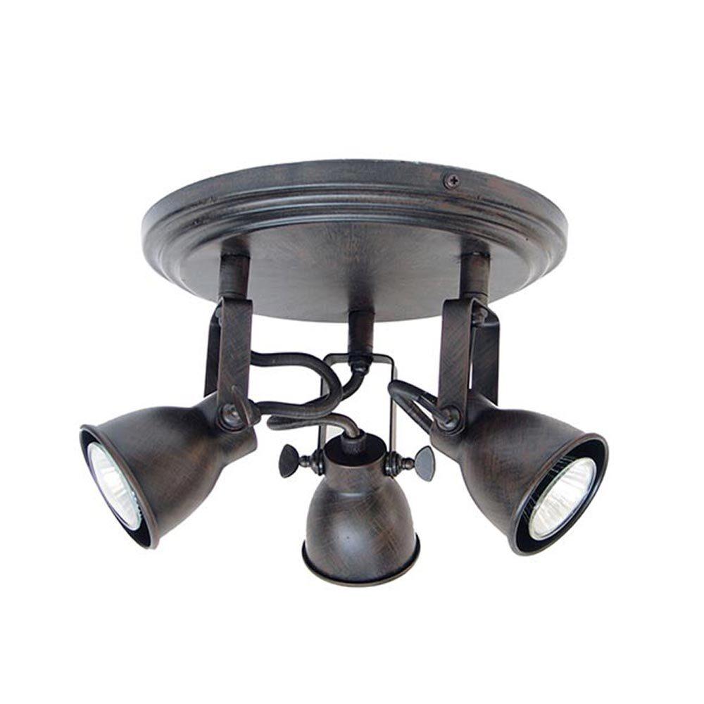 Triple Brown Ceiling Spotlight Spotlights