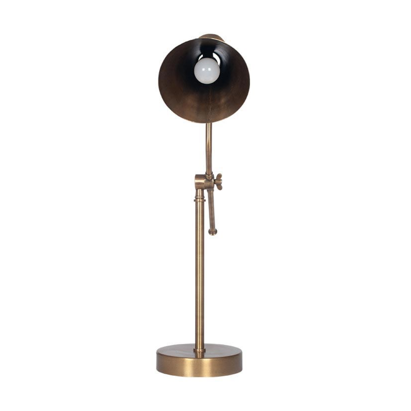 Antique Brass Conical Table Lamp Table Lamps