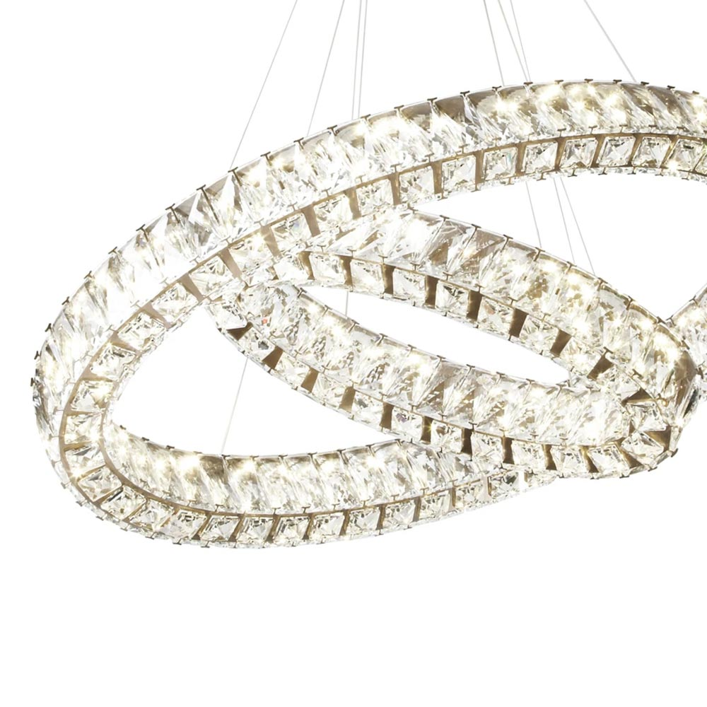 Double Crystal Ring Chandelier Chandeliers