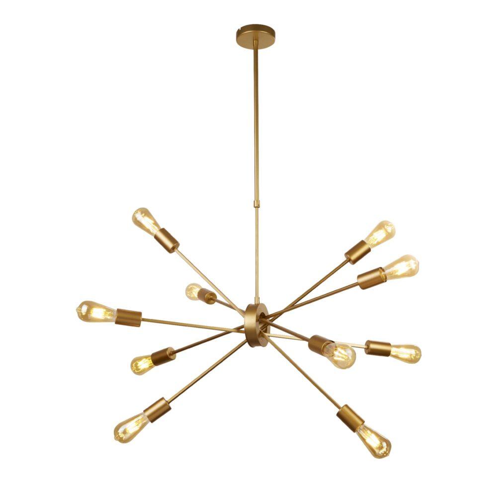 Gold 10 Light Pendant Flush & Semi