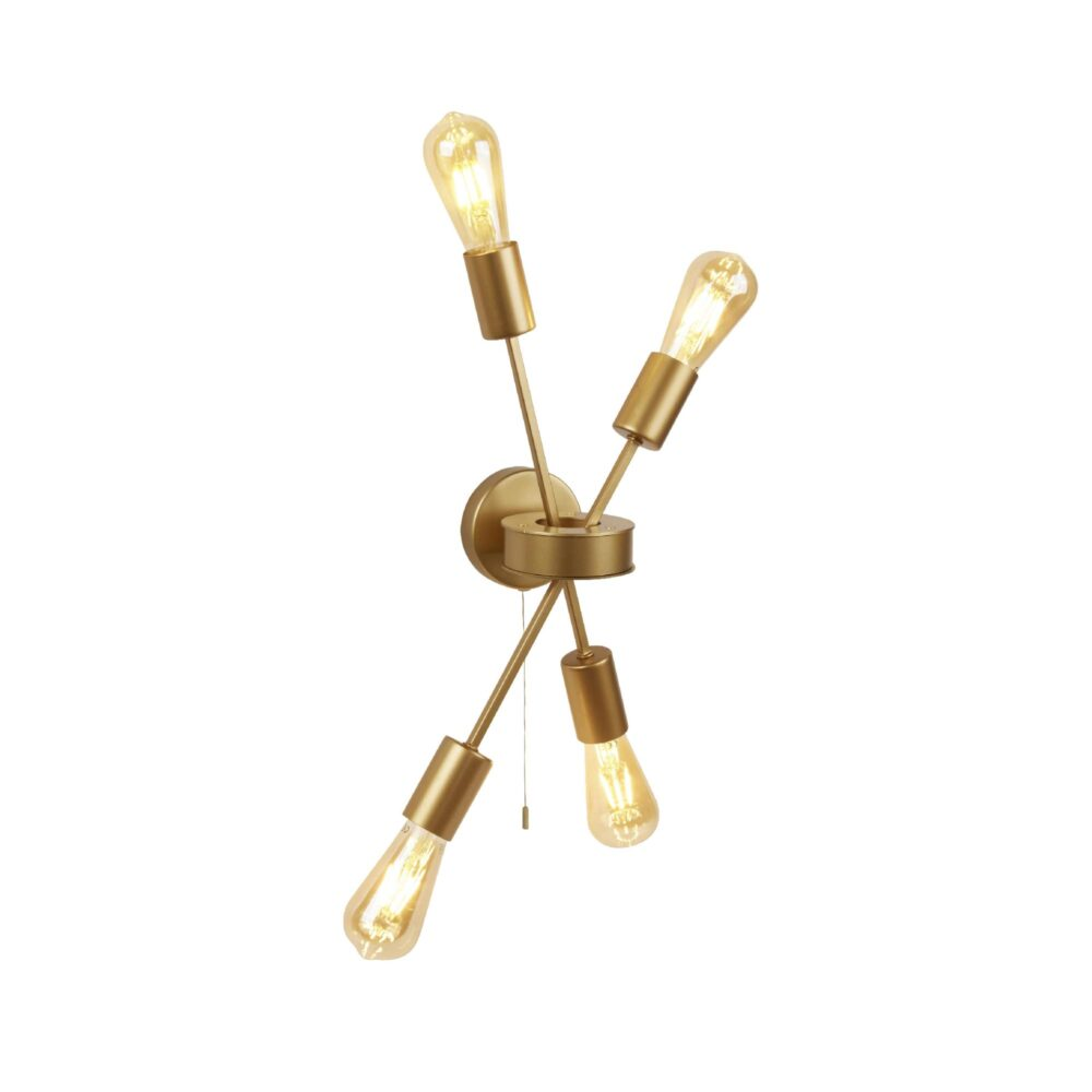 Antique Brass Bathroom Flush Light Flush