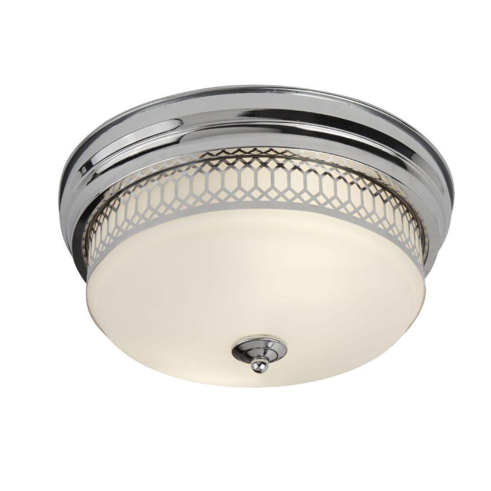 Chrome Bathroom Flush Light Flush