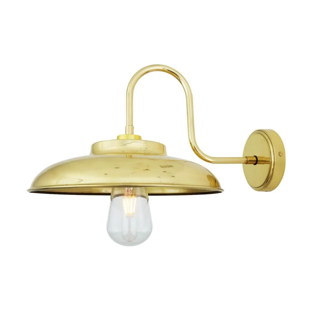 Outdoor Minimal Brass Wall Light Outdoor
