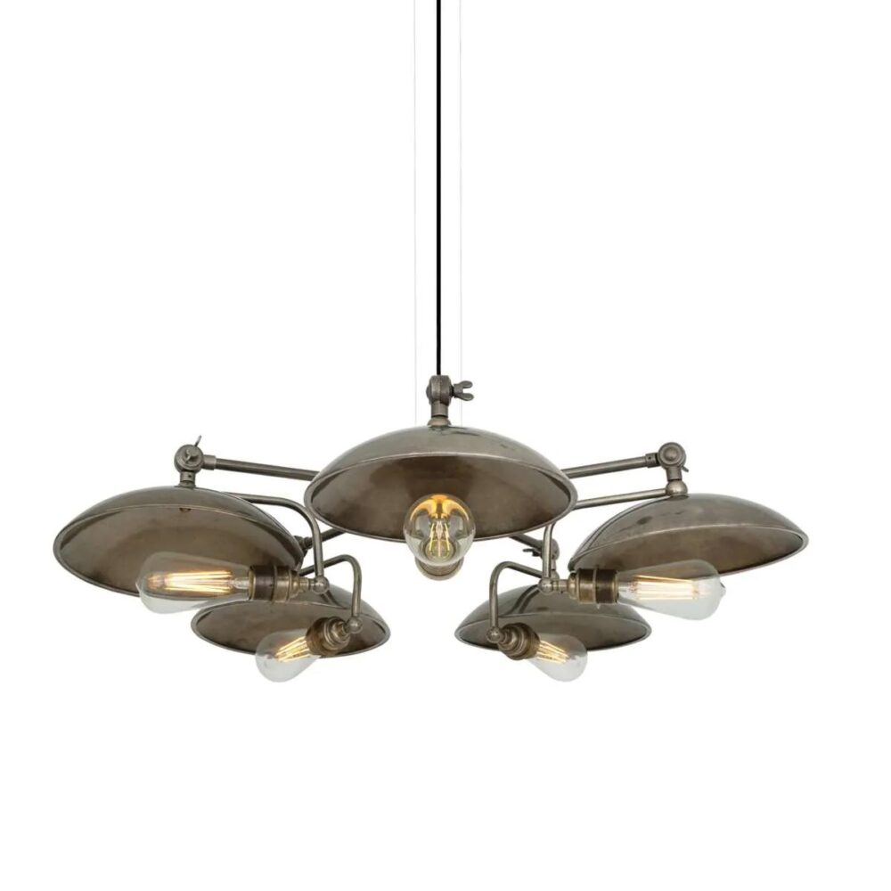 5 Light Dish Chandelier Chandeliers