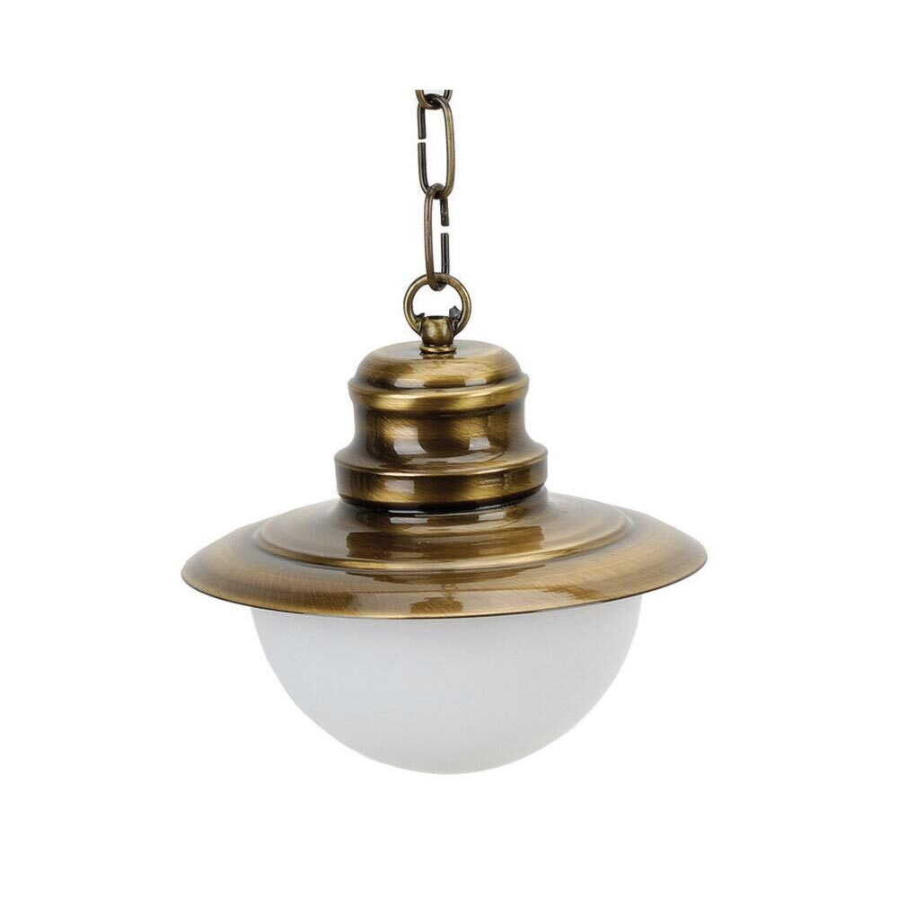 Brass Frosted Outdoor Wall Light Outdoor
