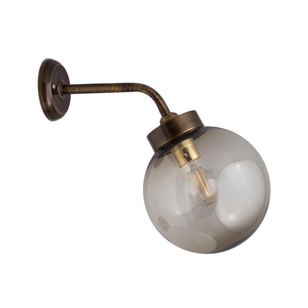 Outdoor Brass Globe Wall Light Outdoor
