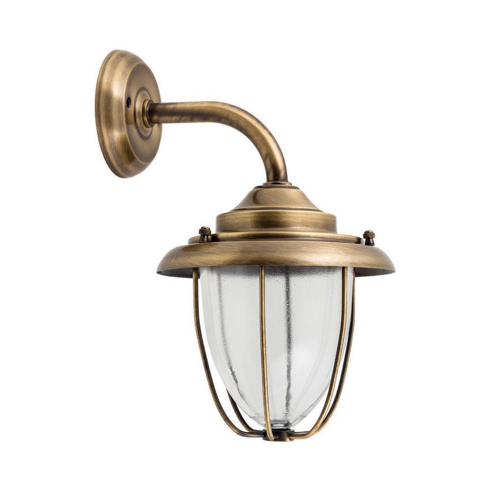 Brass Exterior Sconce Lantern Outdoor