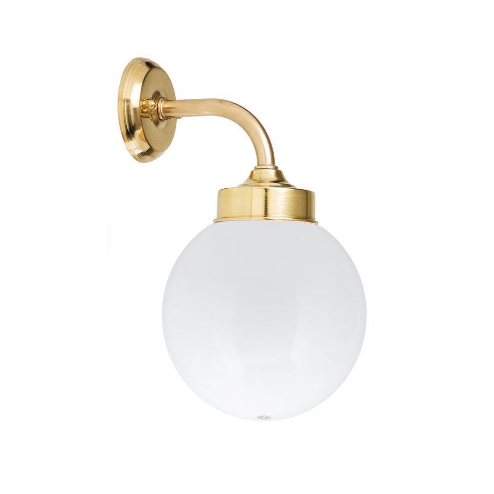 Bathroom Brass Globe Wall Light Outdoor
